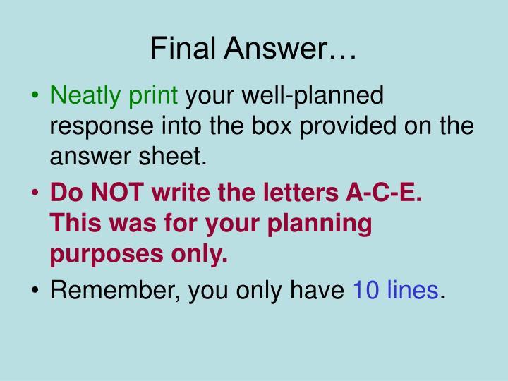 Final Answer…