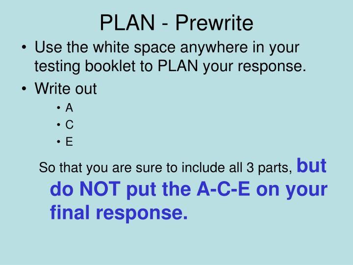 PLAN - Prewrite