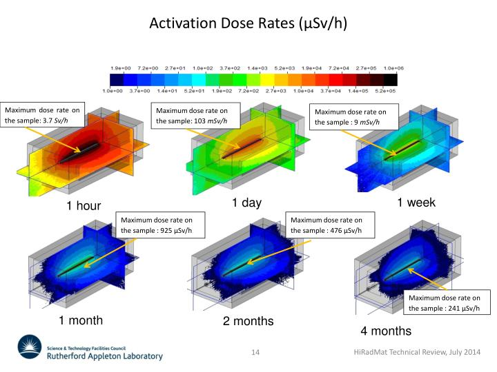 Activation Dose Rates (