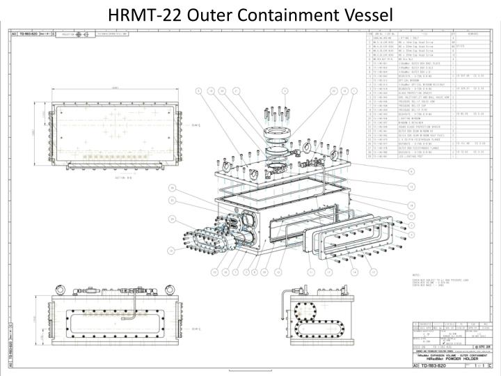 HRMT-22 Outer Containment Vessel