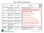 other safety considerations1