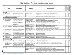 radiation protection assessment