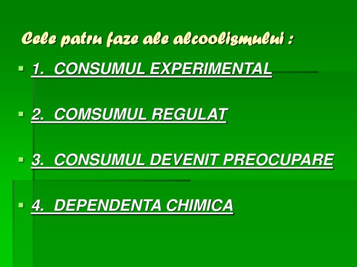 Cele patru faze ale alcoolismului :