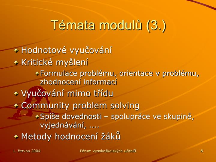 Témata modulů (3.)