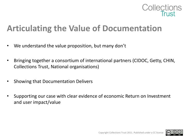 Articulating the Value of Documentation