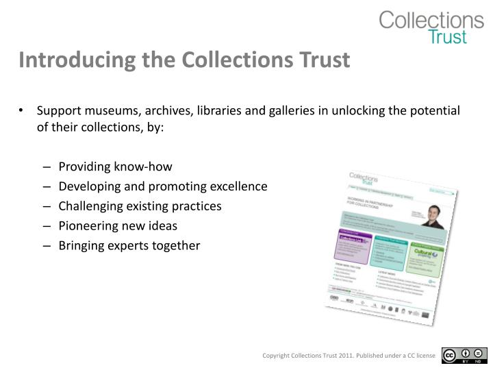 Introducing the Collections Trust