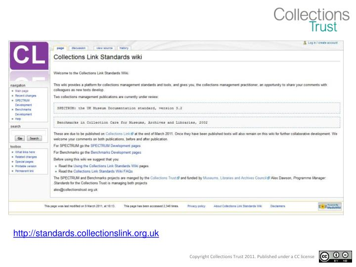http://standards.collectionslink.org.uk