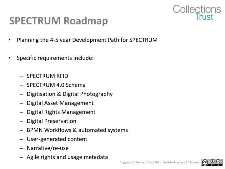 SPECTRUM Roadmap