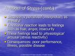 a model of stress cont