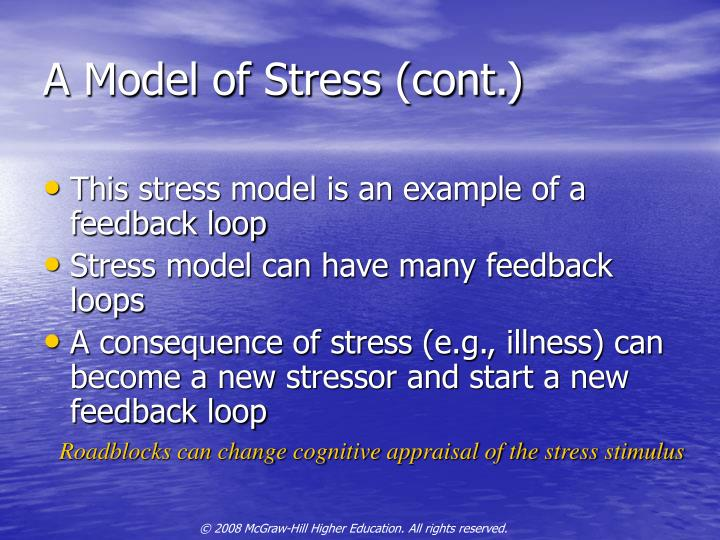 A Model of Stress (cont.)
