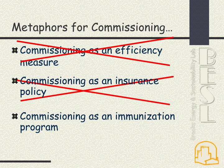 Metaphors for Commissioning…