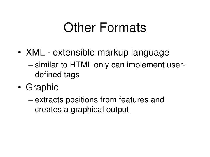 Other Formats