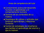 areas de competencia del tutor