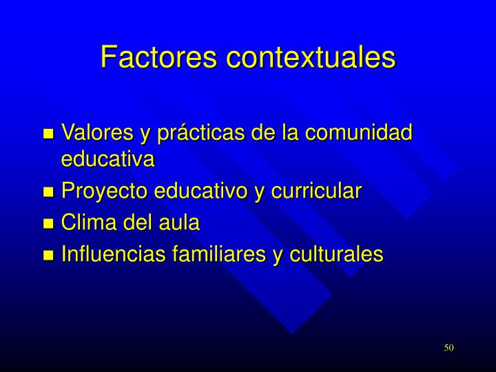 Factores contextuales