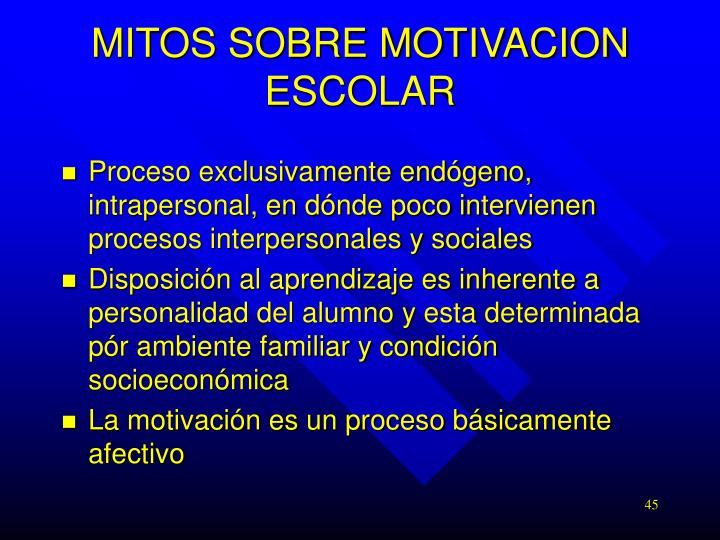 MITOS SOBRE MOTIVACION ESCOLAR