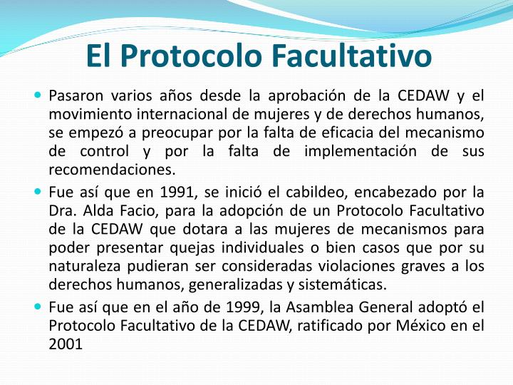 El Protocolo Facultativo