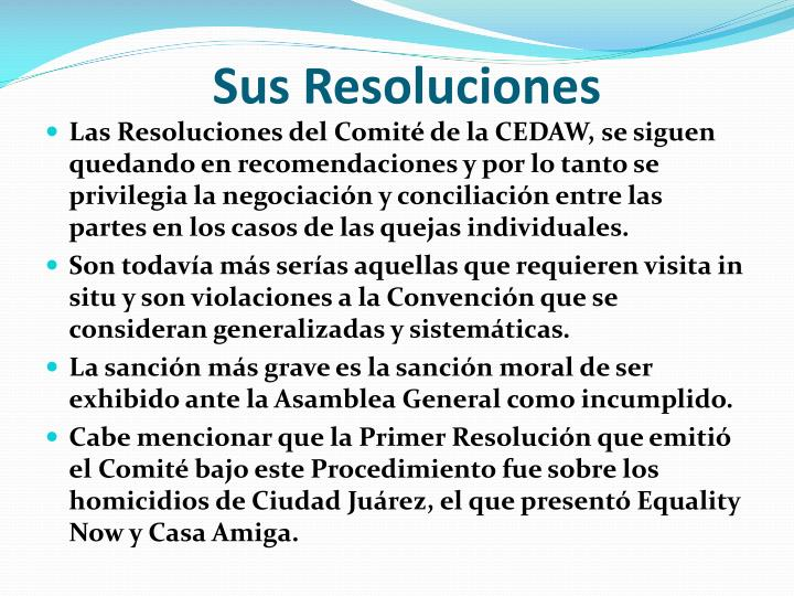 Sus Resoluciones