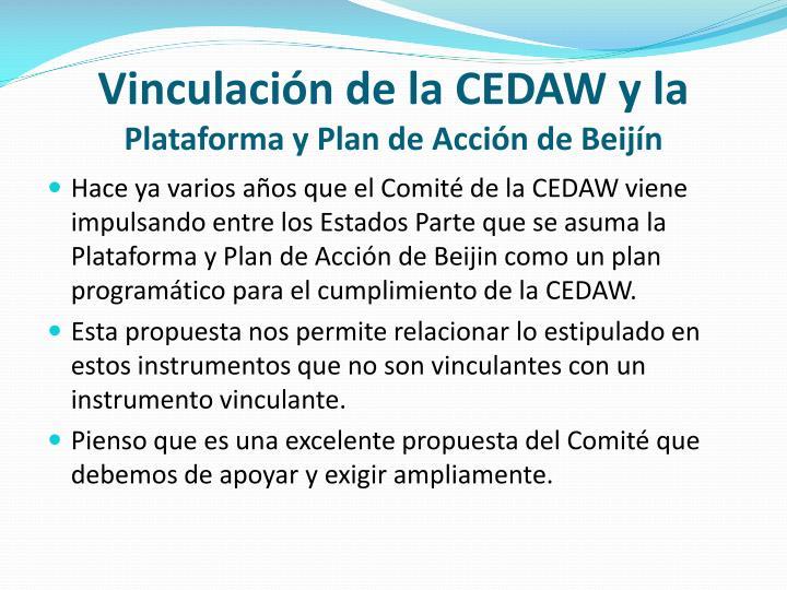 Vinculación de la CEDAW y la