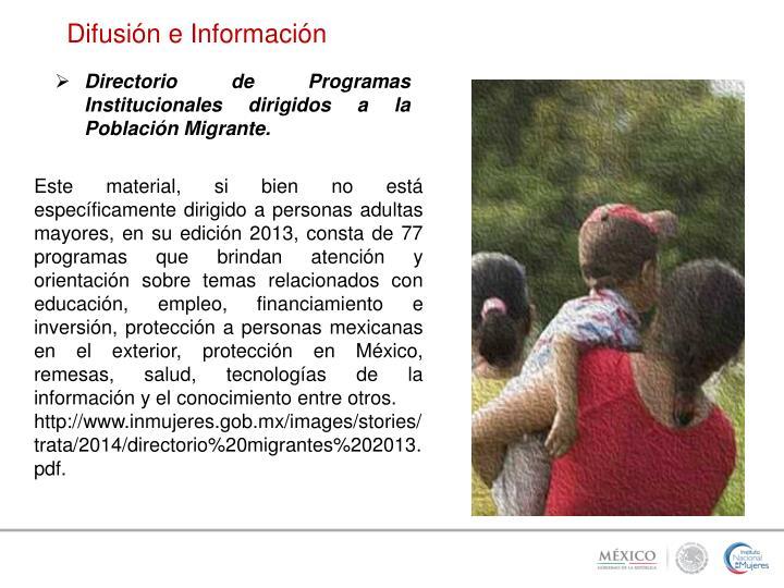 Difusión e Información