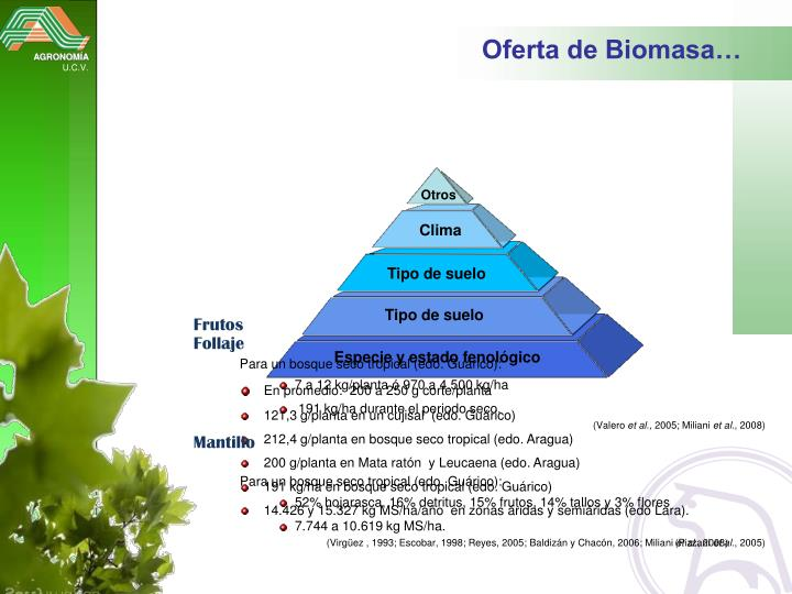Oferta de Biomasa…