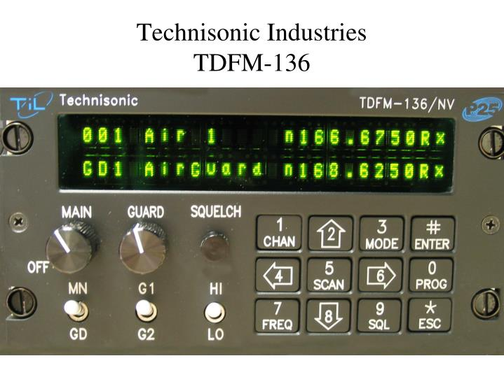 Technisonic industries tdfm 136