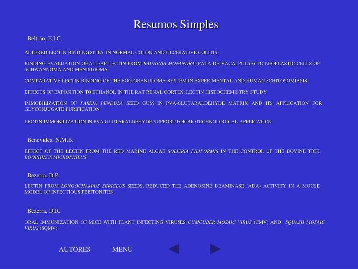 Resumos Simples