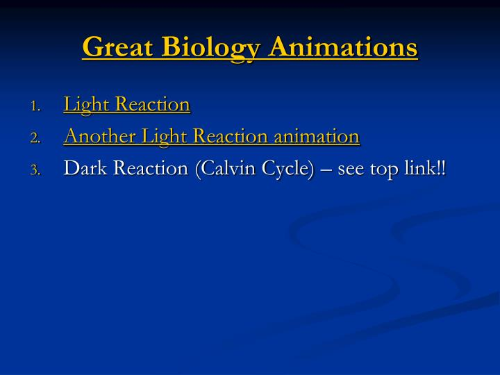 Great Biology Animations