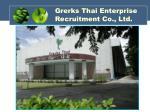 grerks thai enterprise recruitment co ltd