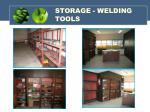 storage welding tools