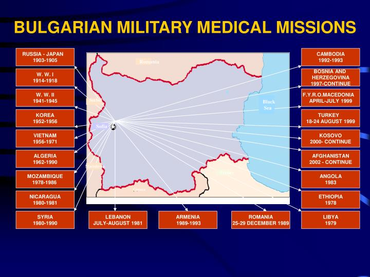 BULGARIAN MILITARY MEDICAL MISSIONS