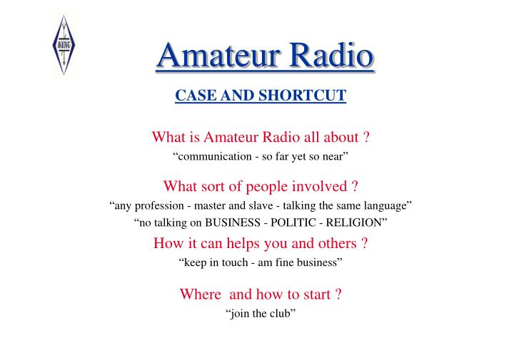 Amateur radio1