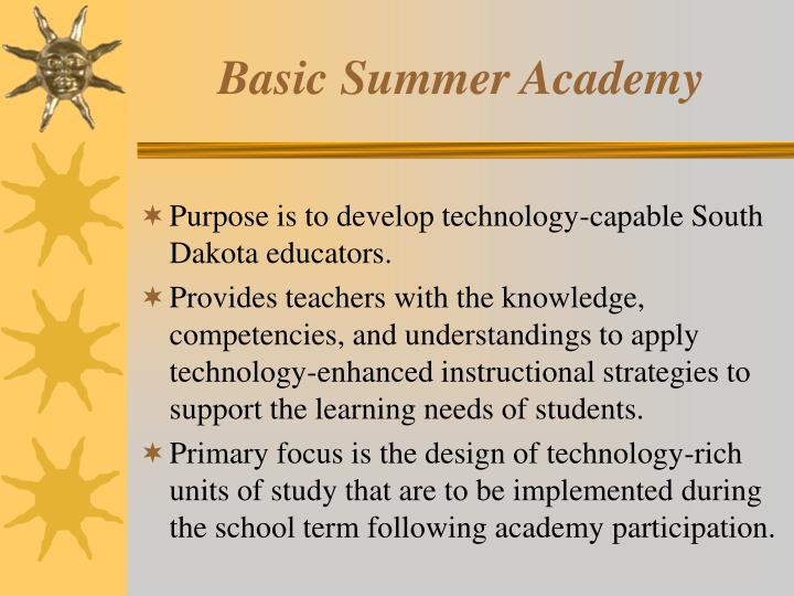 Basic summer academy