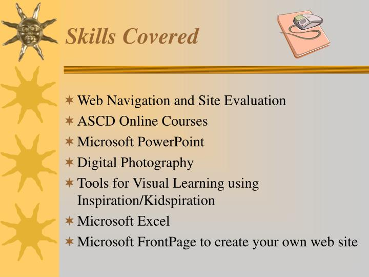 Skills Covered