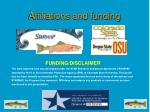 affiliations and funding