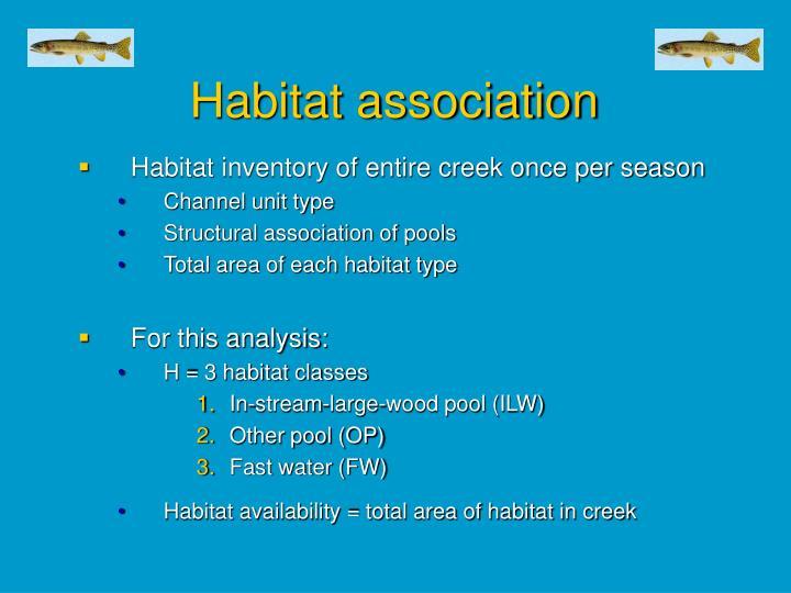 Habitat association