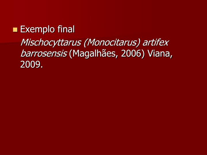 Exemplo final