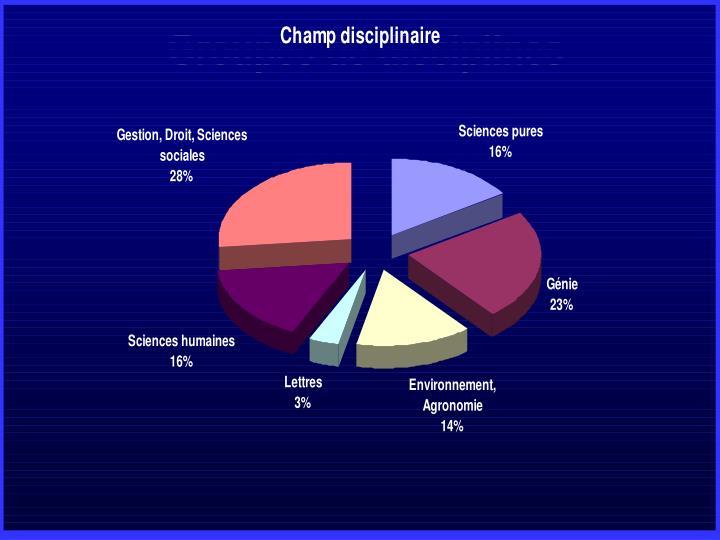 Groupes de disciplines