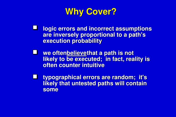 Why Cover?