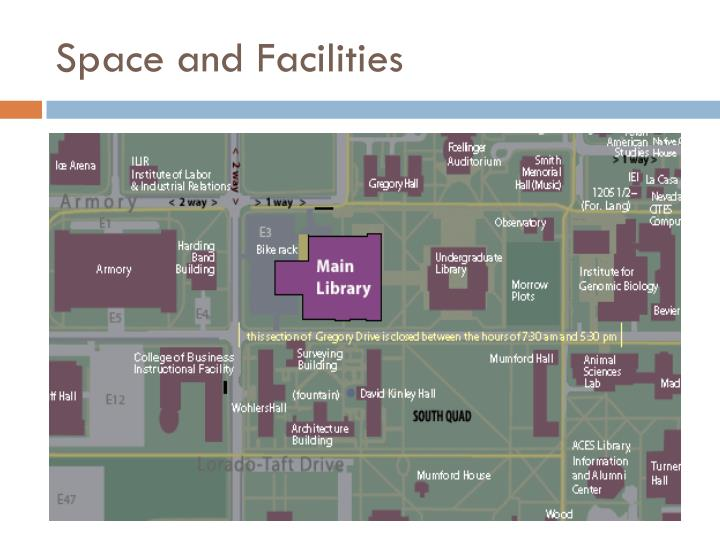 Space and Facilities
