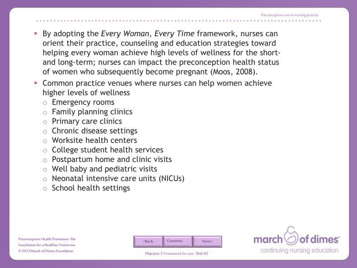 Preconception care in nursing practice