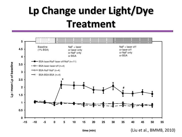 Lp Change under Light/Dye Treatment