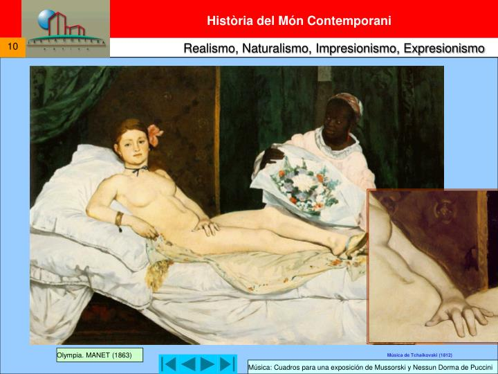 Olympia. MANET (1863)