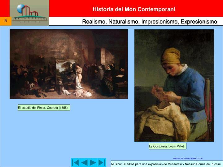 El estudio del Pintor. Courbet (1855)