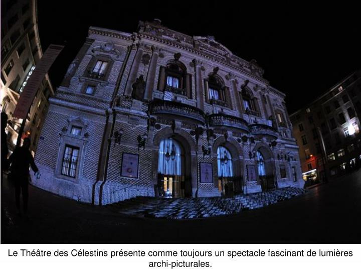 Le Théâtre des Célestins présente comme toujours un spectacle fascinant de lumières archi-picturales.