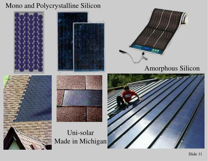 Mono and Polycrystalline