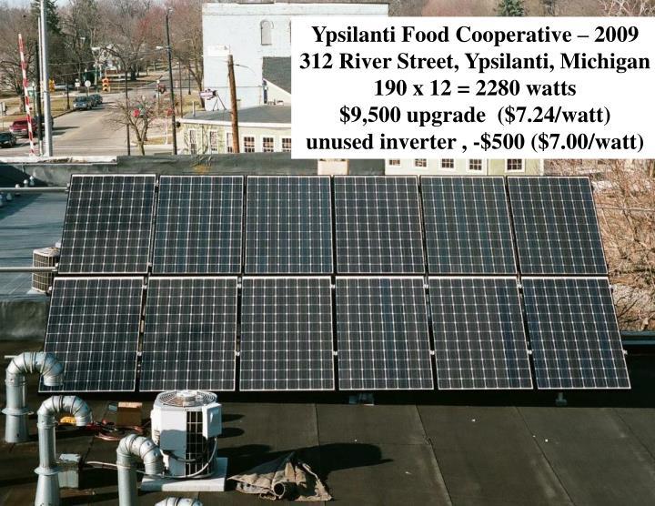 Ypsilanti Food Cooperative – 2009