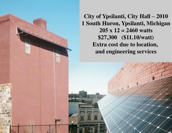 City of Ypsilanti, City Hall – 2010