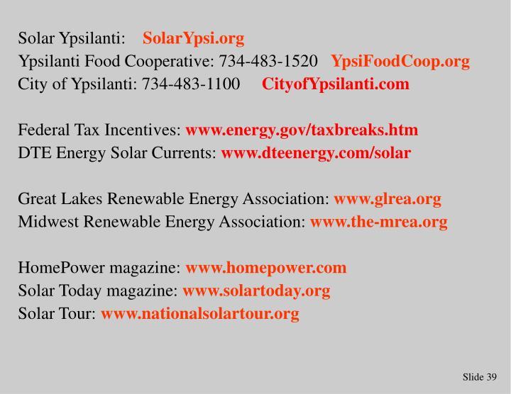 Solar Ypsilanti: