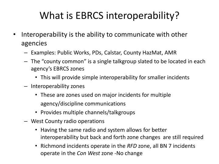 What is EBRCS interoperability?