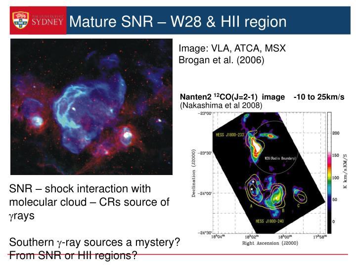 Mature SNR – W28 & HII region